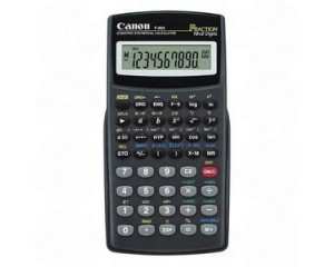 Calcolatrice CANON F-604 Scientifica 10+2 cifre LCD Alim.